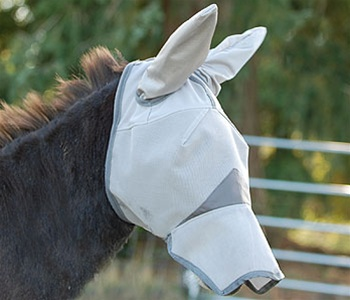 Fly Mask Long nose with mule ears