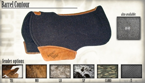 Barrel Contour Saddle Pads
