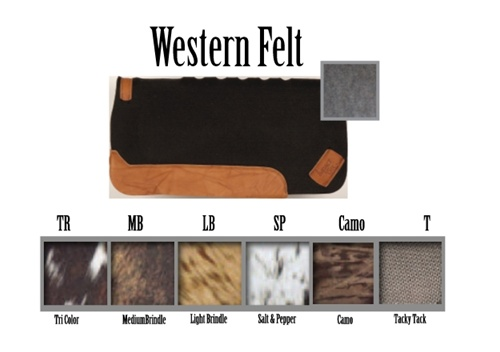 Western Felt Saddle Pads