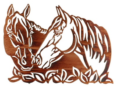 Sharing Secrets Horse Metal Wall Art Home Decorations