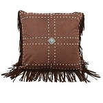 Leather Pillow with Concho's and Studs
