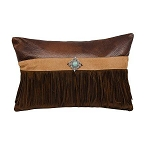 Suede Pillow with Fringe