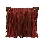 Red Fringe Pillow