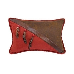 Western Pillow with Beads and Feathers (COPY)