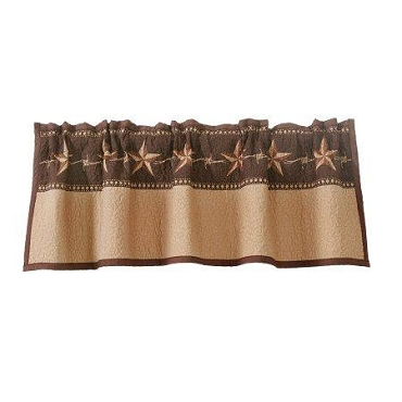 Star ranch Quilted Valance