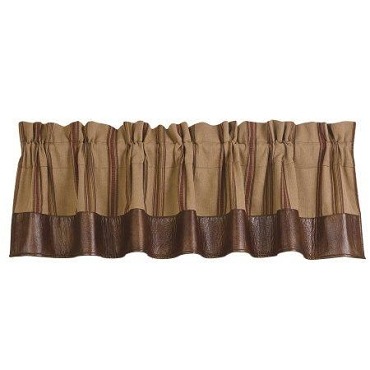 Brown Striped Valance