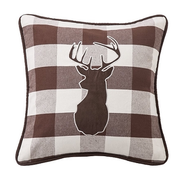 Deer Checked PIllow Huntsman