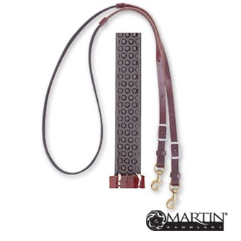 3/4 barrel reins non-slip biothane with leather ends