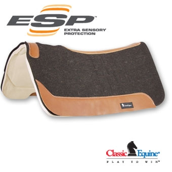 ESP Felt Top Saddle Pads by Classic Equine - Square