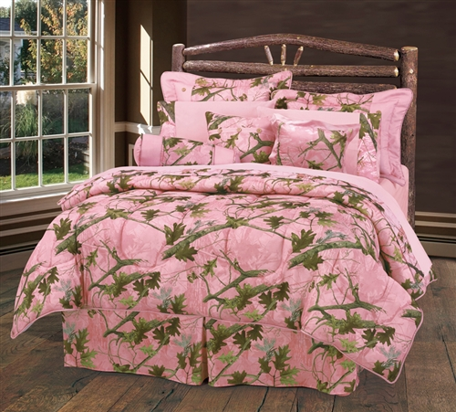 Pink Camoflauge Bedding Set