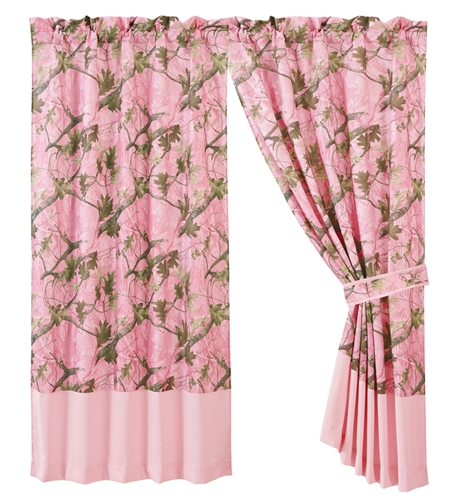 Pink Camoflauge Curtains