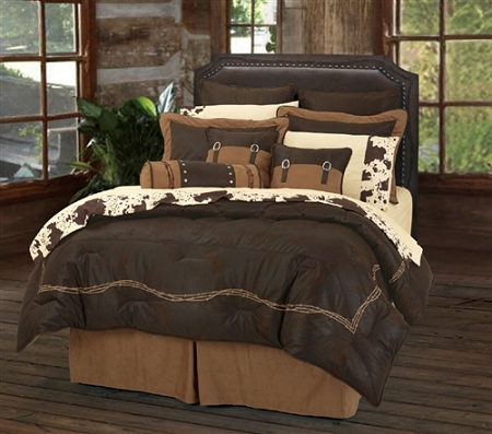Chocolate Barbwire Western Rustic Bedding
