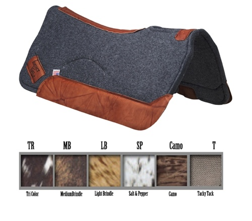 Felt Contour Impact Gel Saddle Pads