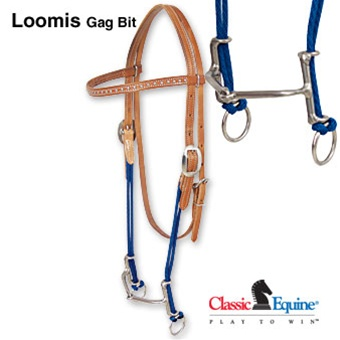 Loomis Gag Bit With Browband Smooth