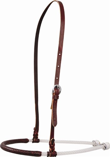 Single Rope Leather Cover Noseband