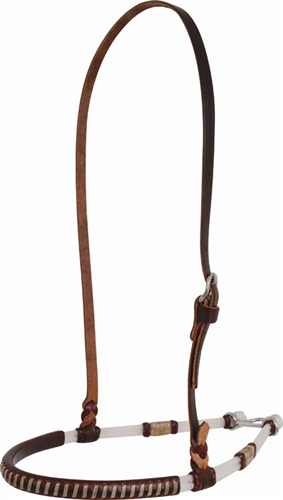 Double Rope Chocolate Leather Noseband