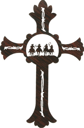Cowboy Wall Art Cross From Western Artist Ron Moore