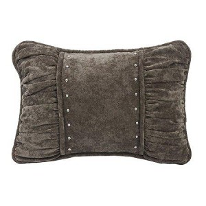 Silver/Grey Shirred Pillow