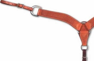 "2-3/4"" Waffle Stamped Breastcollars by Martin Saddlery"