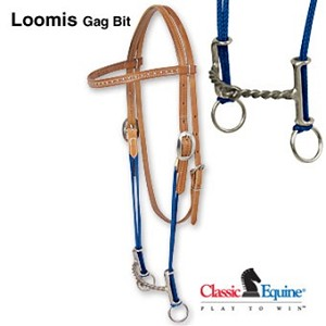 Loomis Gag Bit With Browband Twisted